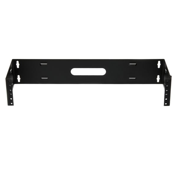 Wall Mount Patch Panel Bracket, 2U, Steel, Black, 1/box