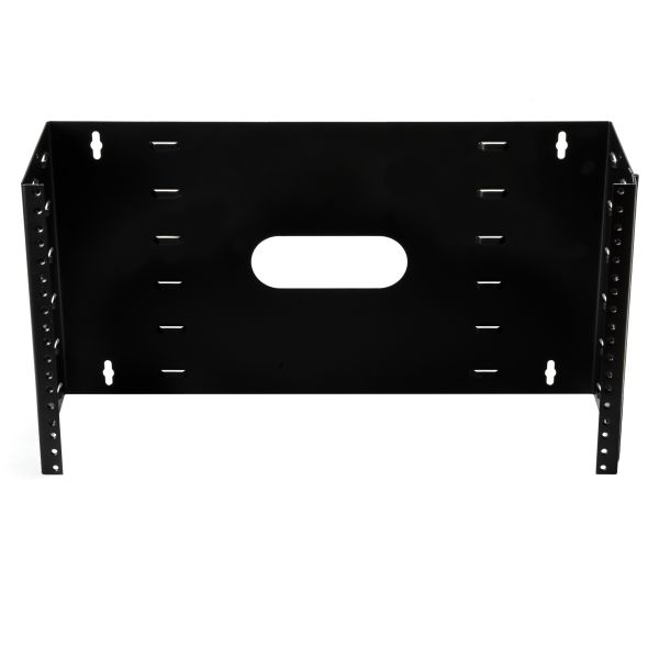 Wall Mount Patch Panel Bracket, 4U, Steel, Black, 1/box