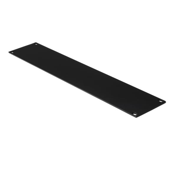 Blank Rack Panel, 2U, Steel, Black, 1/box