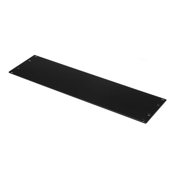Blank Rack Panel, 3U, Steel, Black, 1/box