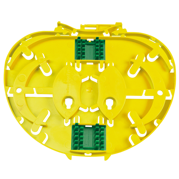 IR Single Circuit SE Tray with 2 x 3A Insert, Yellow, 6/pkg