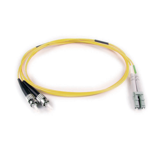 FT LC - ST Duplex OS2 Fiber Assembly, 1M, Yellow, 1/pkg