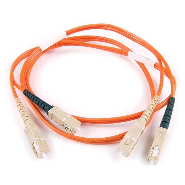FT SC - SC Duplex OM2 Fiber Assembly, 3M, Orange, 1/pkg