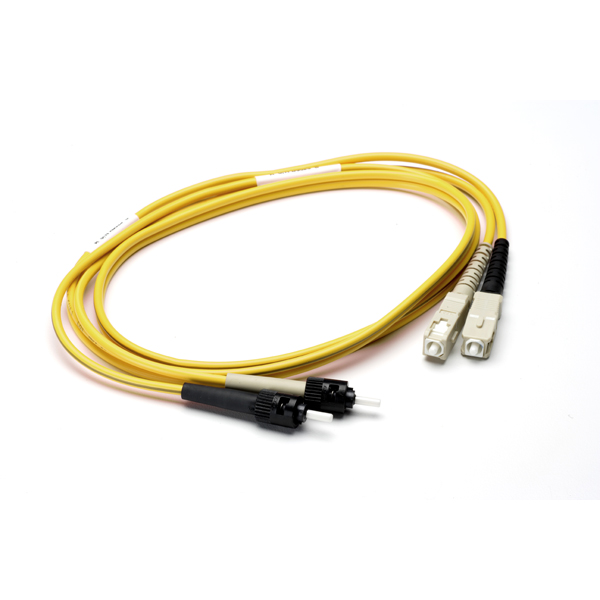 FT SC - ST Duplex OS2 Fiber Assembly, 3M, Yellow, 1/pkg