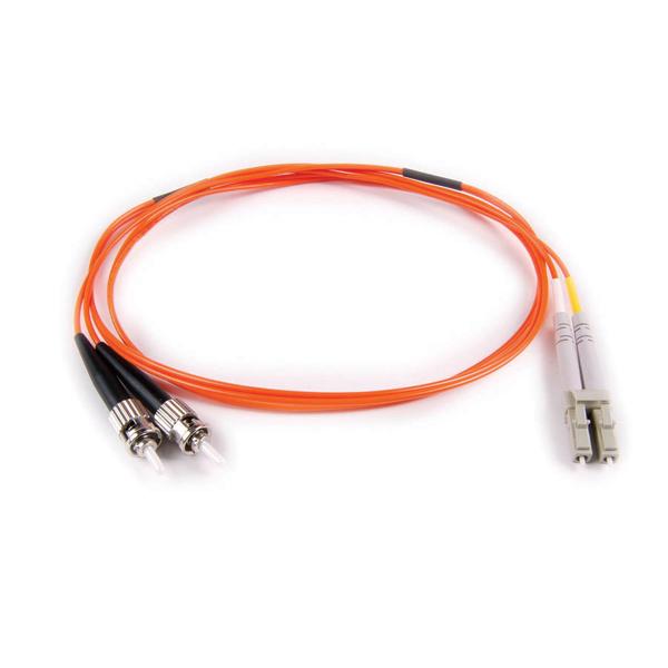 FT LC - ST Duplex OM2 Fiber Assembly, 5M, Orange, 1/pkg