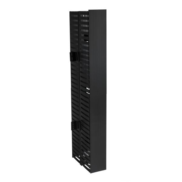 Vertical Wire Manager Dual-Sided, Center Mount, 4.0