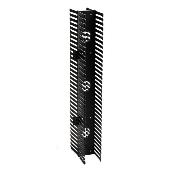 Vertical Wire Manager Dual-Sided, Side Mount, 4.0