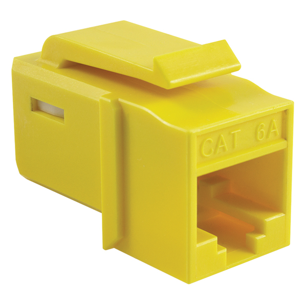 GST Category 6A UTP Modular Keystone Jack, Plenum Rated, Yellow, 1/pkg
